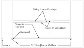 how to draw a sliding door in a floor plan sliding door plan drawing clipartxtras