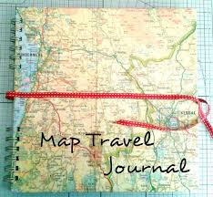 travel photo album upcycled travel memory album journal and photo album 8 steps