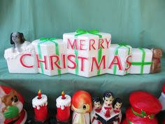 Vintage Christmas Lawn Ornaments by 1993 Rare Empire White Church Blow Mold Christmas Lawn Decoration