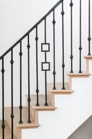 Metal Banister Spindles Curved Staircase With Iron Banister Transitional Entrance Foyer