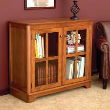 White Bookshelf With Glass Doors Bookcase Furniture Cherry Wood Book Cabinet With Glassdoor And