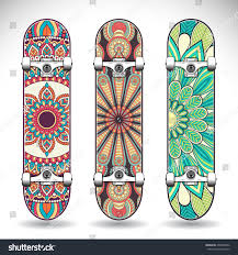Set Skateboards Mandalas Stock Vector 404855860 Shutterstock
