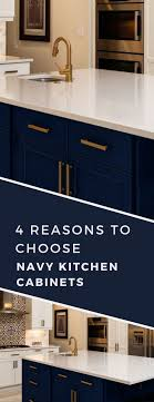 navy blue kitchen cabinet pulls 4 reasons to jump on the navy cabinet kitchen trend nebs