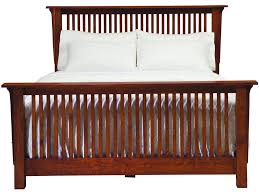 american craftsman american craftsman spindle bed with low footboard