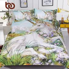 bedding outlet stores beddingoutlet 3d unicorn bedding set queen size watercolor print