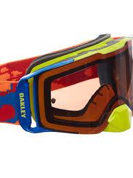 oakley goggles motocross oakley thermo camo orange red prizm bronze 2017 front line mx