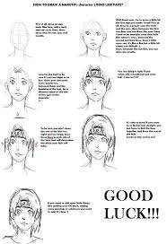 tutorial naruto tutorial how to draw a naruto s oc face by insane chwan on deviantart
