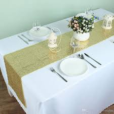 Sequin Table Runner Wholesale Gold Banquet Sequins Table Runner Wedding Event Party Festival
