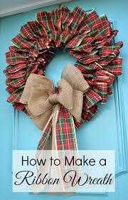 ribbon wreath christmas wreath 2015 7 jpg