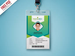 id card graphic design multipurpose photo identity card template psd psdfreebies com