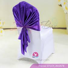 Purple Chair Sashes Spandex Cocktail Table Covers Stretch Chair Covers For Wedding