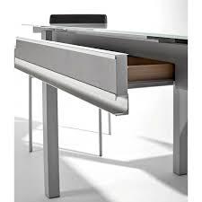 table cuisine tiroir table en verre avec tiroir et allonges dama