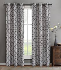 single oliver silver faux silk window curtain panels w grommets