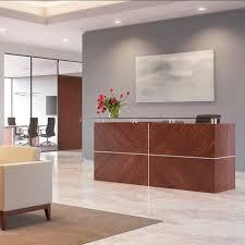 modular reception desk wooden element ofs