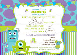 monsters inc baby shower ideas monsters inc baby shower invitations