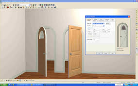 how to frame a door opening arched door open in 3d