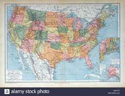 United States America Map by Old Map Of 1883 America U S U S A United States Stock Photo