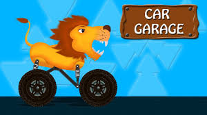 monster trucks kids video lion monster truck video animal toy truck kids video youtube