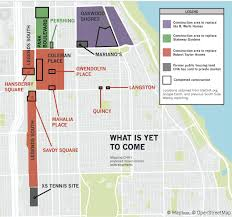 chicago housing projects map chicago s unfulfilled promise to rebuild its housing