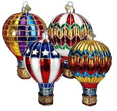 world ornaments air balloon assorted 36056