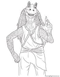 star wars u2013 jar jar binks coloring page coloring page central