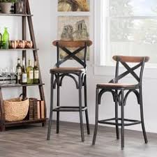 island kitchen stools kosas home dixon rustic brown and black reclaimed pine and iron bar