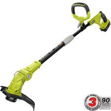 ryobi one 18 volt lithium ion cordless string trimmer edger 2 6