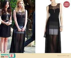 wornontv hanna u0027s sheer black maxi dress at the funeral on pretty