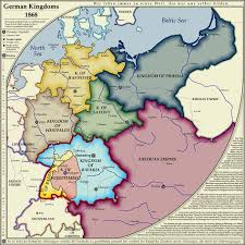 map of deutschland germany map german kingdoms 1868 history is to