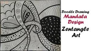 play doodle draw mandala zentangle tutorial for beginners easy doodle drawing