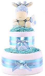 2 tier boys nappy cake baby shower gift blue baby hamper free