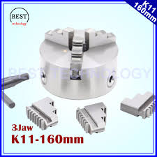 k11 160mm 3 jaw chuck self centering manual chuck four jaw for cnc