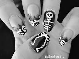 skeleton nail art u0026 face paint plus famous nails