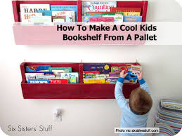 Kid Bookshelf How To Make A Cool Kids Bookshelf From A Pallet