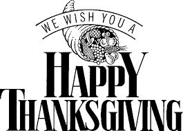 thanksgiving clip in black white 101 clip