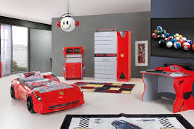 amusing car theme kids bedroom sets dominated red collour