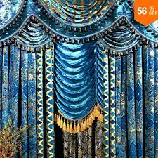 Peacock Blue Sheer Curtains The Blind Fashion Living Room Curtain Peacock Blue Flannelet