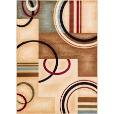 Modern Geometric Rugs by Well Woven Barclay Arcs And Shapes Ivory 9 Ft 3 In X 12 Ft 6 In