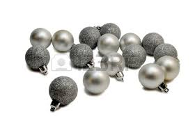 ornaments silver balls balls and glass and is