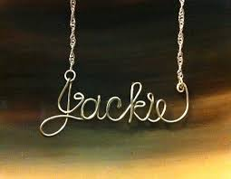 wire name necklace personalized wire name necklace by bmaddesign on etsy 22 00