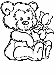 teddy bear flower coloring pages coloringstar