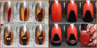 tutorial tuesday flashback to thanksgiving nail tutorials