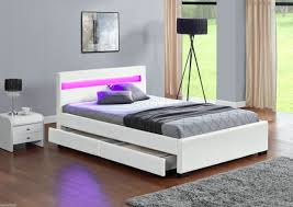 Led Bed Frame Harmin Led Bed With Bluetooth 4 Storage Drawers