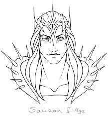 sauron i ii age sketch by the alef on deviantart