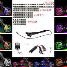 fry s led light strips 12pcs motorcycle multi color universal rgb 15 colors led light
