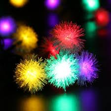 luckled solar christmas string lights 23ft 50 led chuzzle ball