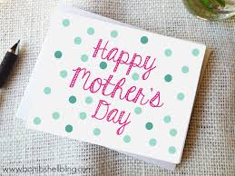 mothers day card free printable s day card