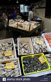 cuisiniste st malo seafood for sale at st malo in stock photo royalty