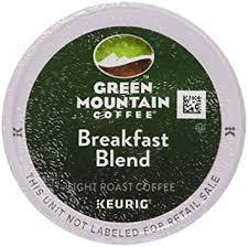 keurig green mountain coffee breakfast blend 50 k cup portion