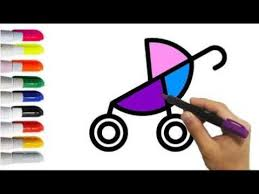 baby stroller coloring pages coloring kids videos